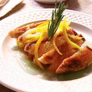 Magret de pato a la naranja